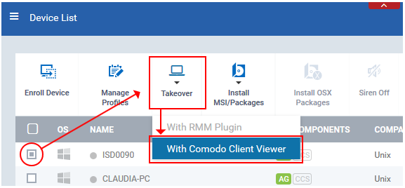 Comodo Client Viewer
