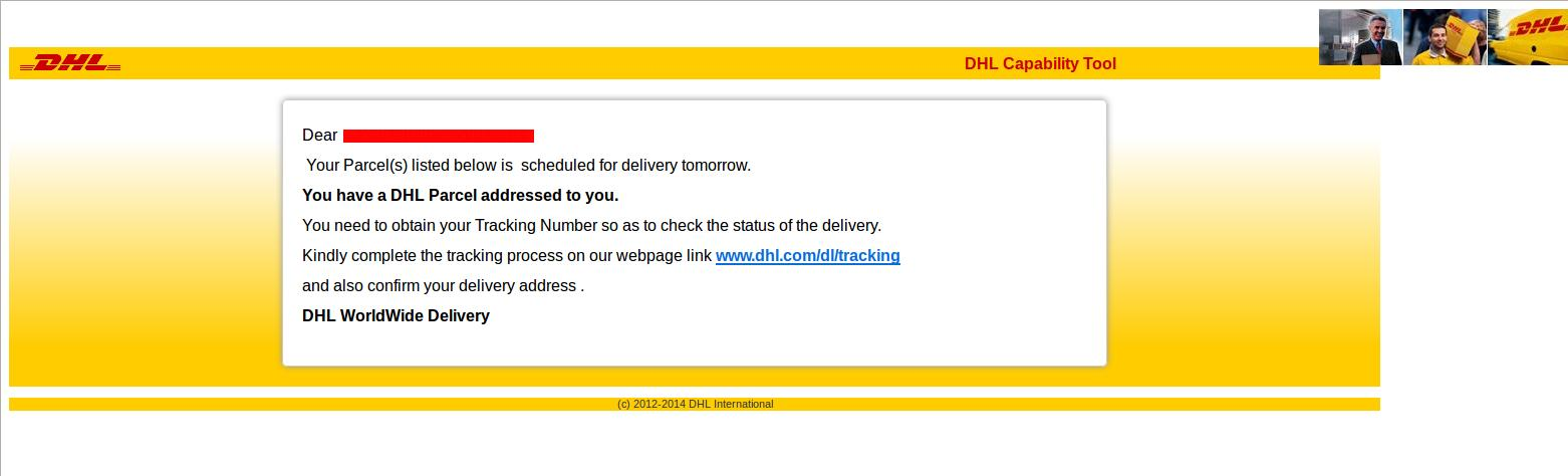 DHL Shipment Delivery Tracking Number