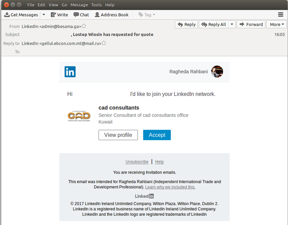LinkedIn Attack Threat