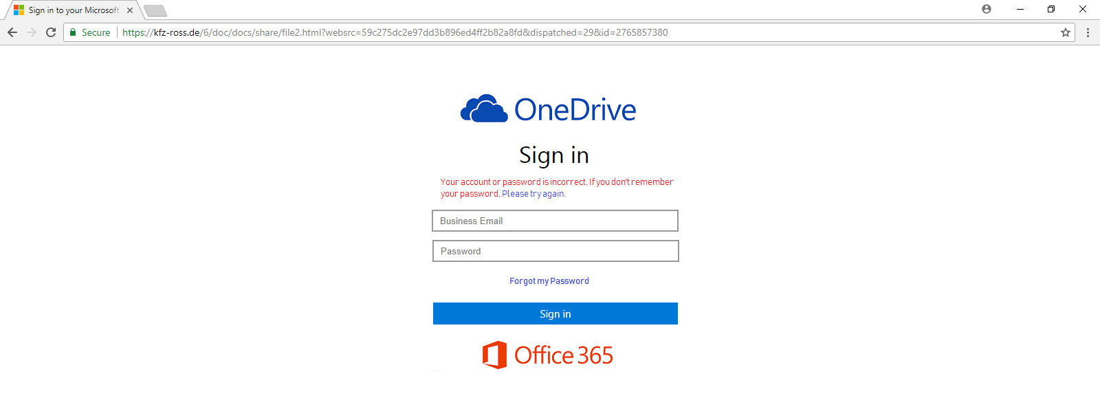 OneDrive Bait Login  - One Drive Bait - Phishing Trap for Microsoft Users | Phishing Attacks