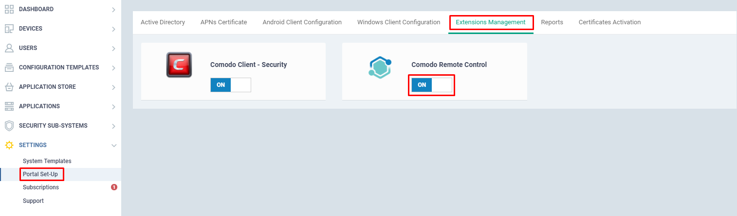 Takeover remote endpoints using ITSM | Comodo One