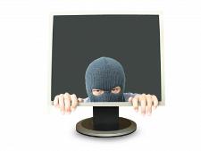 hacker in monitor