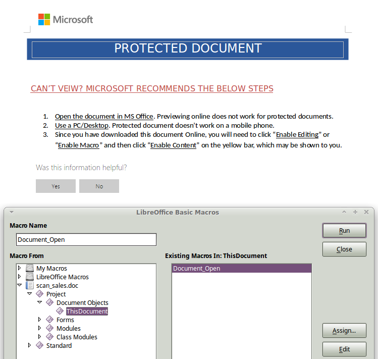 microsoft protected document
