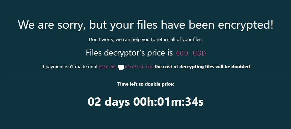 - ransom banner - GandCrab Ransomware and its evolution